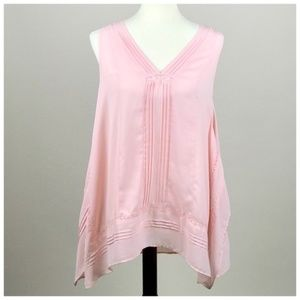 NY Collection Pale Pink Sleeveless Tunic Blouse